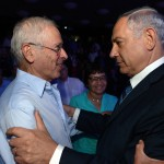 Prime Minister Benjamin Netanyahu (R) seen with son of Menachem Begin, Benny Begin during an event marking ten years to the Menachem Begin Heritage Center in Jerusalem on September 21, 2014. Photo by Haim Zach/GPO/Flash90 *** Local Caption *** ??? ???? ???? ????? ???? ?????? ?????? ?????? ???? ???? ????? ???? ?????