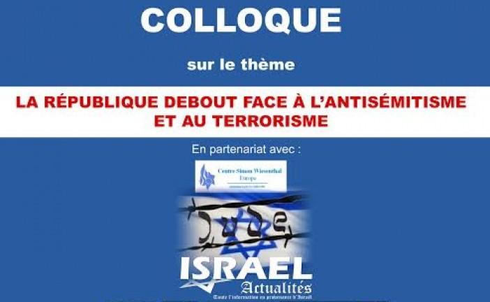 Colloque  du BNVCA contre  l'antisémitisme à l'assemblée  Nationale  Jeudi 22 Octobre 2015