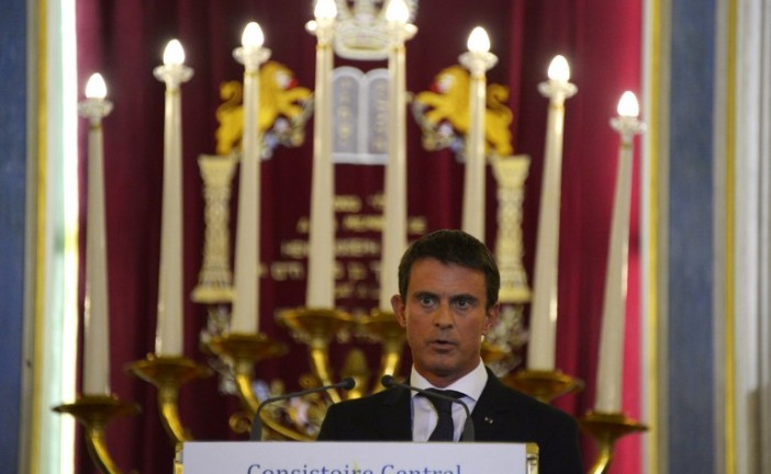 M. Valls à la Synagogue de Nazareth: «le combat contre l'antisémitisme est à reprendre».