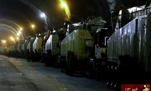 Capture d'écran tirée des images vidéo diffusées par Téhéran, mercredi, montrant des infrastructures souterraines qui abritent des missiles - Irinn - AFP