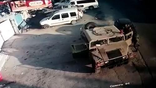 Vehicule pres de l'attaque Beit Arieh