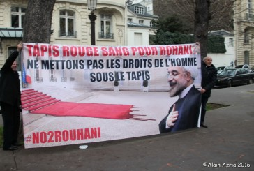MANIFESTATION ASSEMBLE NATIONALE CONTRE LA VENUE DU PRESIDENT CRIMINEL D IRAN