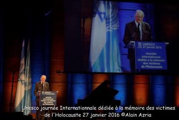 UNESCO Journée Internationale  dédiée à la mémoire des victimes de l'Holocauste