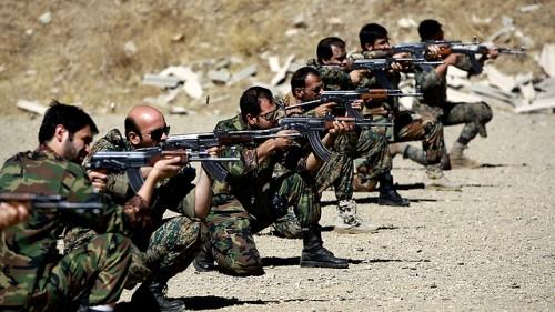 Fighters from Iran's Basij volunteer militia training (Photo: AP/Archive)