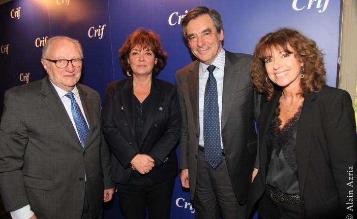Les amis du CRIF reçoivent François Fillon le 15 février 2015. Par notre photographe reporter Alain AZRIA