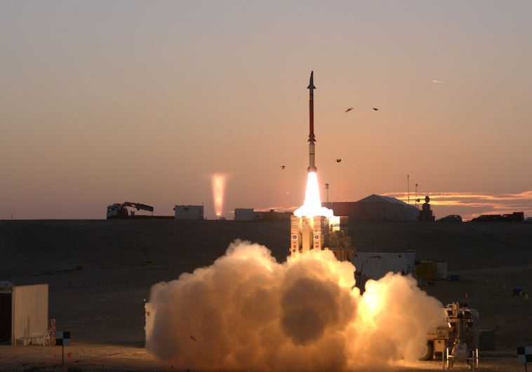 IAF takes possession of David's Sling air defense system. (photo credit:DEFENSE MINISTRY)