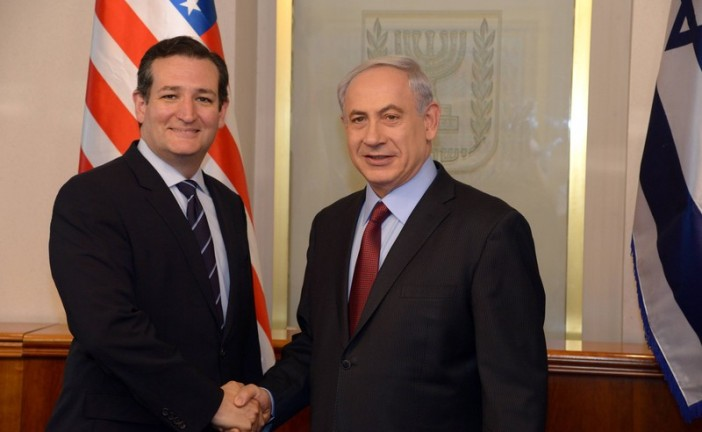 Le candidat Républicain  au primaire Cruz avec une Kippa : « Dieu bénisse Netanyahou »