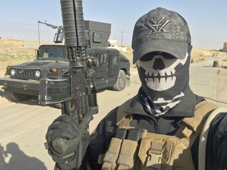 """Selfie transmis le 18 août 2016 par """"Mike"""", alias Peshmerganor, un ancien soldat norvégien qui combat avec les forces kurdes contre les jihadistes de l'EI au nord de Mossoul, en Irak"""