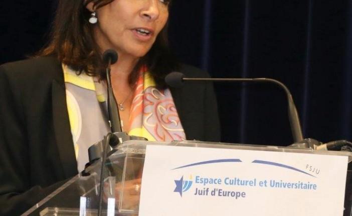 Voeux de Anne Hidalgo maire de Paris  à la communauté juive. Photo Alain AZRIA