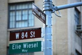 New York : une rue Elie Wiesel à Manhattan