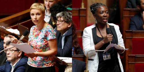 les députées Danièle Obono et Clémentine Autain