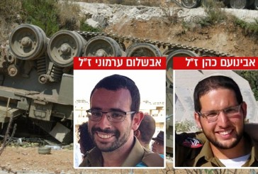 Tsahal: Apres la tragédie de ce matin, les noms des deux militaires tués ont été publiés