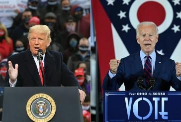 Le scrutin  très serré Donald Trump rattrape  son retard sur Joe Biden