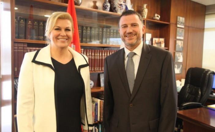 Youli Edelstein reçoit la présidente Croate.