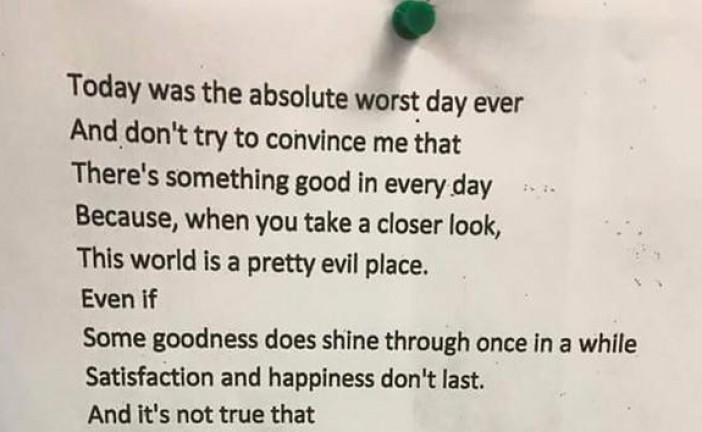 Un poème d'une jeune lycéenne hassidique émeut le monde.