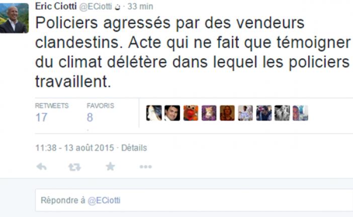 Video : quand la Police en plein  Paris est agréssée par  des vendeurs à la sauvette