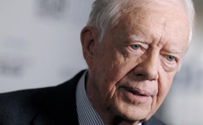 Silence d'Israël. L'ex-Président des Etats-Unis Jimmy Carter est très malade.