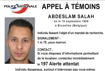 Alerte  info : Le 8ème terroriste recherché toujours introuvable, à Bruxelles, en Belgique