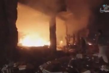 [Vidéo] L'Etat Islamique en feu sous les bombardements par la France et les Etats-Unis