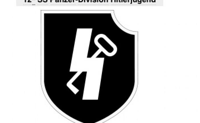 Un écusson de la 12e Panzerdivision SS sur le casque d'un CRS français!