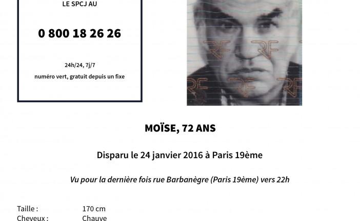 Alerte  : Avis de recherche à Paris dans le 19 eme, personne disparue
