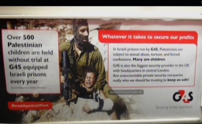 Des centaines d'affiches anti-israéliennes posées dans les métros londoniens.