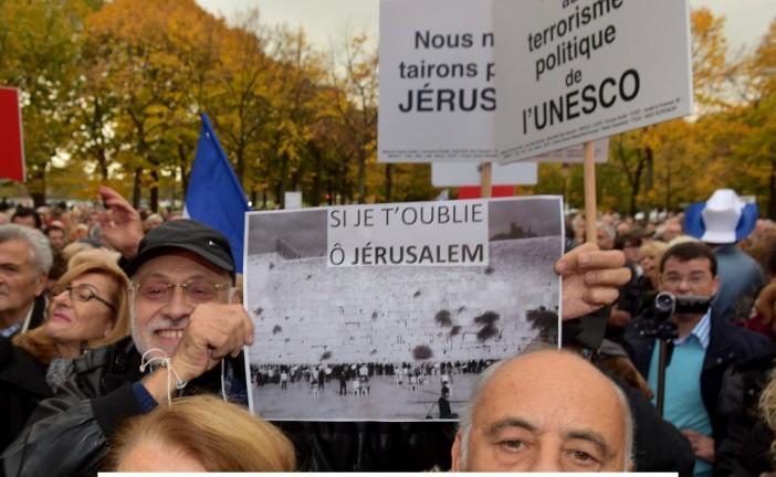 UNESCROC : 3000 personnes manifestent contre l'abstention de la France lors du vote sur Jérusalem. Pas un média « officiel » ne couvre Evènement… [Photos]