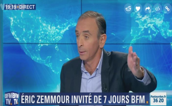 [Vidéo] Eric Zemmour : « des palestiniens tuent des enfants dans la rue uniquement parce qu'ils sont juifs  »