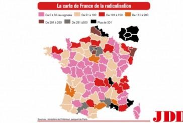 La carte de France de la radicalisation islamique