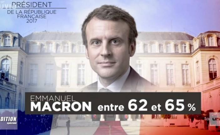 Emmanuel Macron Elu avec un taux entre 62 et 65 % des suffrages