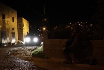 Video : Pendant la nuit, des soldats de Tsahal et des forces de l'ISA et de la police des frontières ont opéré dans la zone des villages de la brigade régionale de Binyamin