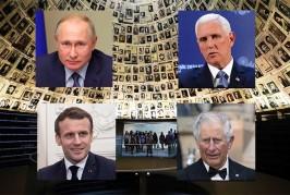 Le ministre des Affaires étrangères, Israël Katz, a accueilli ce soir. mardi le président français Emmanuel Macron à l'aéroport Ben Gourion pour assister au 75e anniversaire de la libération d'Ashwitz par le Forum international.